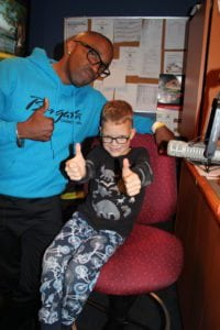 Earl David Reed with Miracle Child Everest